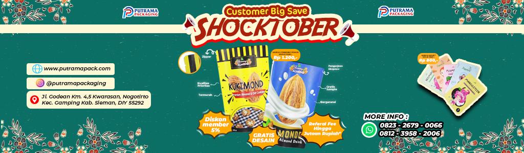 Banner iklan promo oktober cetak kemasan dari putrama packaging